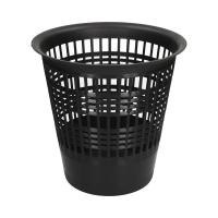 Kosz na śmieci 12.5l czarny ażurowy Economy Durable