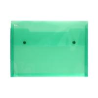Teczka A4 przeźroczysta zielona PAT4005S