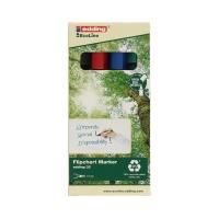 Marker flipchart 1-5mm 4kol ścięty Edding 32/4S EcoLine