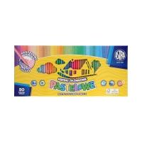 Kredki ołówkowe 50kol pastelowe Astra 312121004
