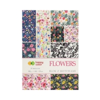 Blok motyw A4/15 Flowers Happy Color