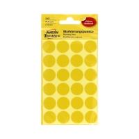 Etykiety oznaczeniowe fi18 żółte Kropki (96)