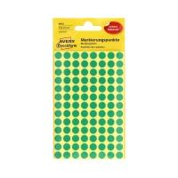 Etykiety oznaczeniowe fi8 zielone Kropki 3012 (416)