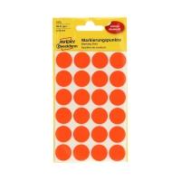 Etykiety oznaczeniowe fi18 czerwone/neon Kropki (96)