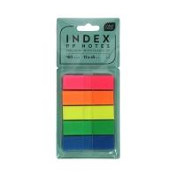 Zakładki indeksujące 12x45/30 5kol PP Interdruk