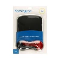 Podkładka mysz/nadgarstek czarno-czerwona DuoGel Kensington
