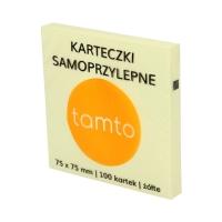 Karteczki samoprzylepne 75x75/100 żółte Tamto