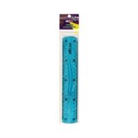 Linijka 20cm elastyczna niebieska Strigo SSC013