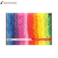 Blok rysunkowy A3/10 kolorowy 80g Interdruk barwiony