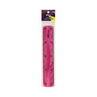 Linijka 20cm elastyczna różowa Strigo SSC012