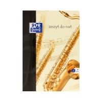 Zeszyt A4/32 pięciolinia Muzyka Oxford 100302252