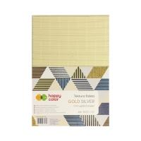 Karton falisty A4/10 metallic brokat Happy Color