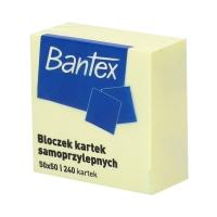 Karteczki samoprzylepne 50x50/240 żółte Bantex
