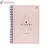 Kołozeszyt A4/100 kratka Academy pastel Interdruk 90g