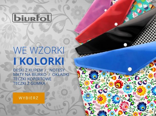 Biurfol kolorowe teczki